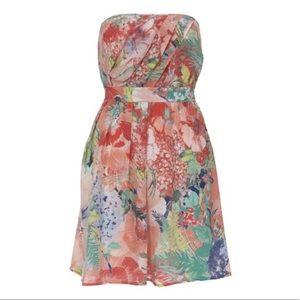 Floral strapless Kate Middleton honeymoon dress